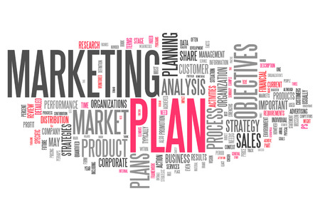 business plan: Word Cloud with Marketing Plan related tags