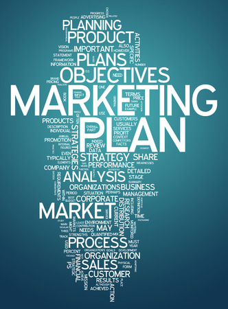 marketers: Word Cloud with Marketing Plan related tags