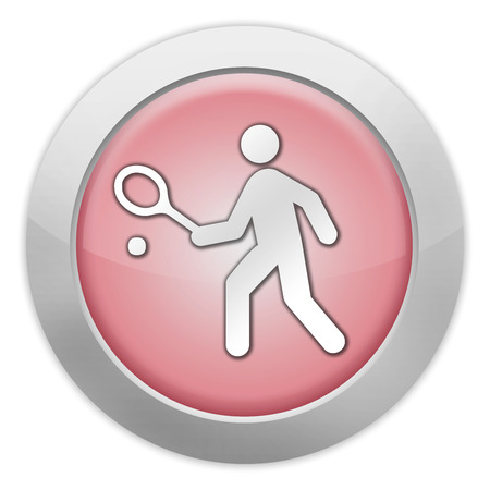 Icon, Button, Pictogram with Tennis symbol