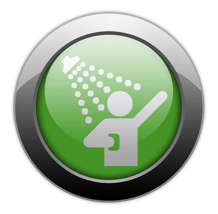 showering: Icon, Button, Pictogram with Shower symbol