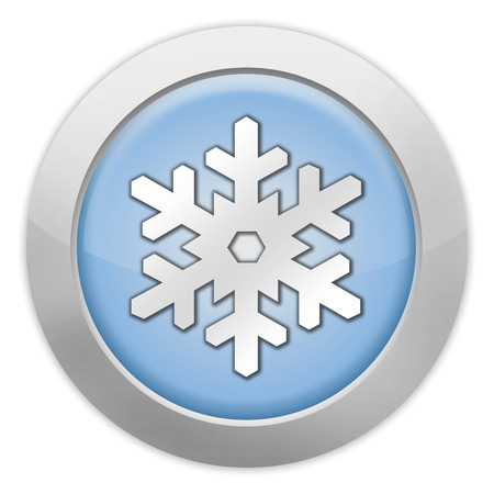 wintersport: Icon, Button, Pictogram with Winter Recreation symbol Stock Photo