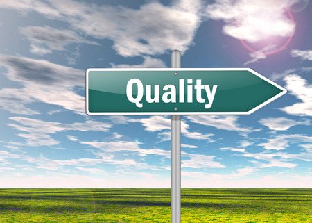maintainability: Signpost with Quality wording