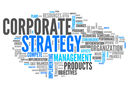 Word Cloud with Corporate Strategy related tags photo