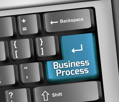 business process: Keyboard with Business Process wording Stock Photo