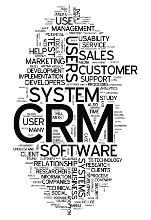 Word Cloud with CRM - Customer Relationship Management related tags photo