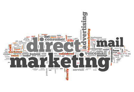 direct marketing: Word Cloud with Direct Marketing related tags Stock Photo