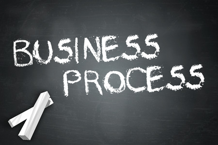 business process: Blackboard with Business Process wording