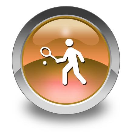 아이콘, 버튼, 테니스 기호가있는 그림
