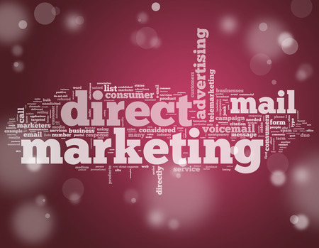Word Cloud with Direct Marketing related tags Foto de archivo