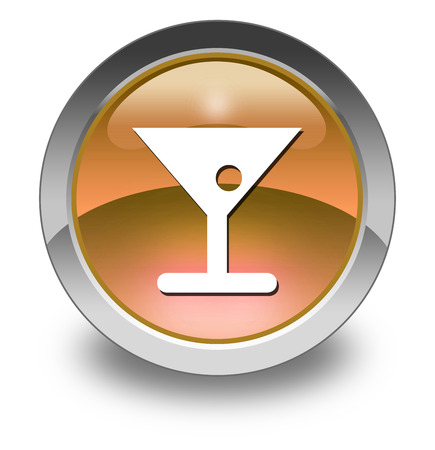 mixed drink: Icon, Button, Pictogram with Bar symbol Stock Photo