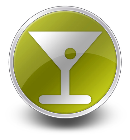 barmaid: Icon, Button, Pictogram with Bar symbol Stock Photo