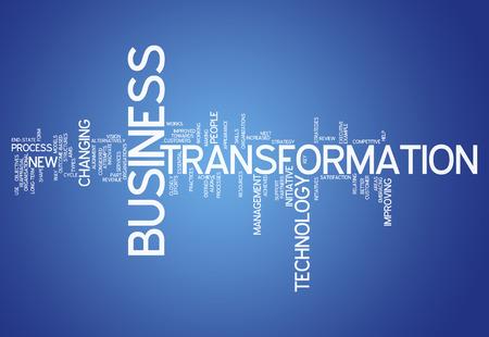 Word Cloud mit Business Transformation verwandte Tags Lizenzfreie Bilder