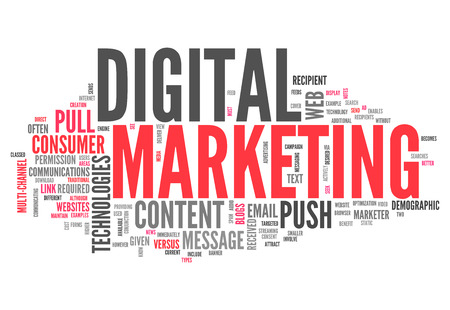 a word: Word Cloud with Digital Marketing related tags