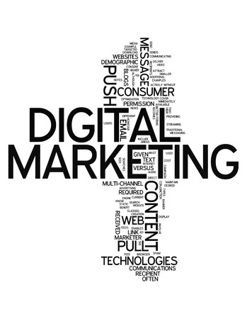 direct sale: Word Cloud with Digital Marketing related tags