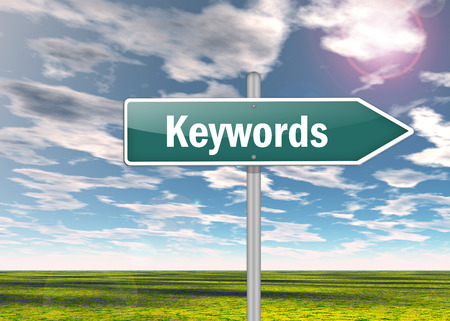 keywords: Signpost with Keywords wording