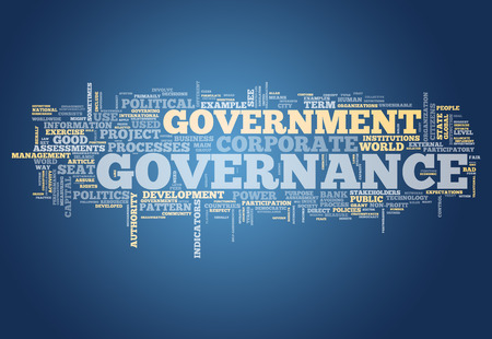 governance: Word Cloud met Governance gerelateerde tags