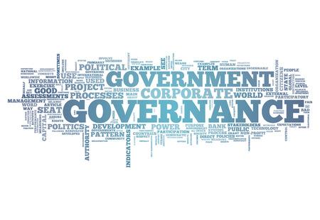 gobierno corporativo: Nube de la palabra con las etiquetas vinculadas a la gobernanza