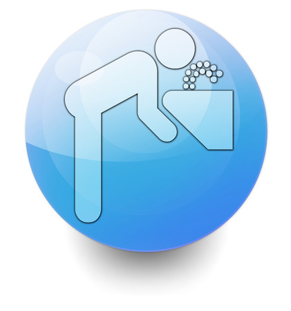 drinkable: Icon, Button, Pictogram with Drinking Water symbol
