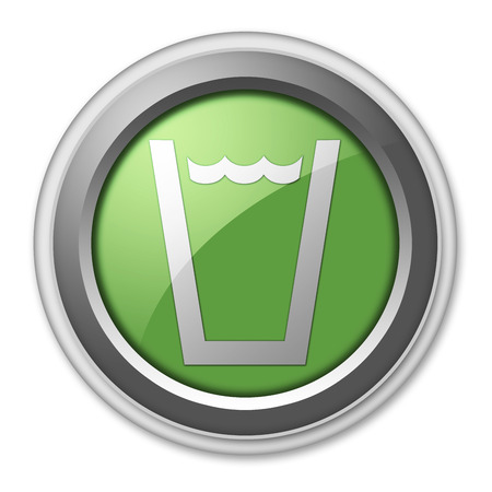 safe drinking water: Icon, Button, Pictogram with Drinking Water symbol