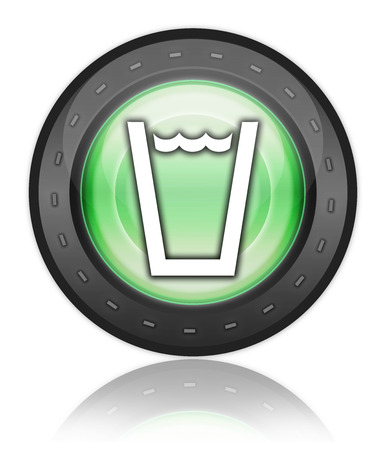 hook up: Icon, Button, Pictogram with Drinking Water symbol