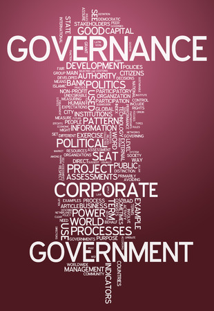 govern: Word Cloud with Governance related tags