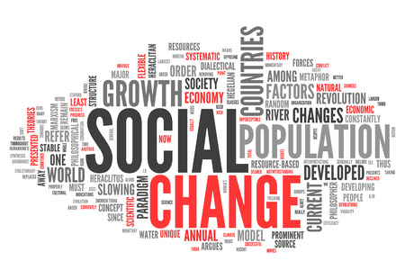 change: Word Cloud with Social Change related tags Stock Photo
