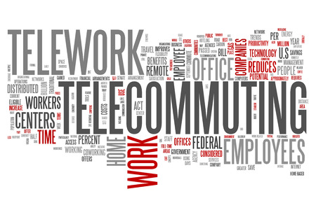 nomad: Word Cloud with Telecommuting related tags