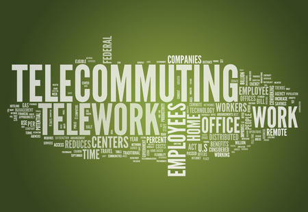 telecommuting: Word Cloud with Telecommuting related tags