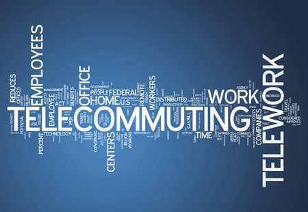 teleworking: Word Cloud with Telecommuting related tags