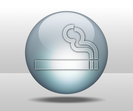 exempted: Icon, Button, Pictogram with Smoking Area symbol