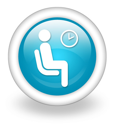Icon, Button, Pictogram with Waiting Room symbol photo