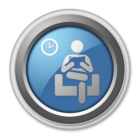 push room: Icon, Button, Pictogram with Waiting Room symbol