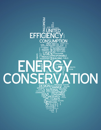Word Cloud with Energy Conservation related tags photo
