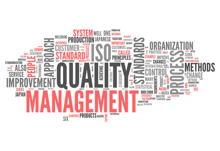 Word Cloud with Quality Management related tags photo