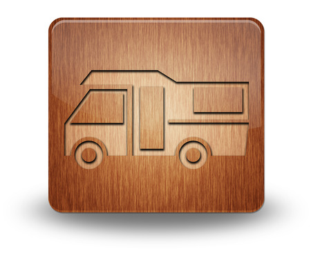 motorhome: Icon, Button, Pictogram with Motorhome symbol Stock Photo