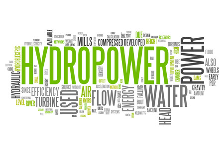 hydro power: Word Cloud with Hydropower related tags