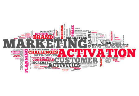 activation: Word Cloud with Marketing Activation related tags