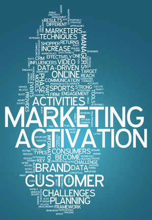 activate: Word Cloud with Marketing Activation related tags