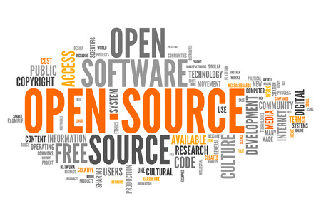 Word Cloud with Open Source related tags photo