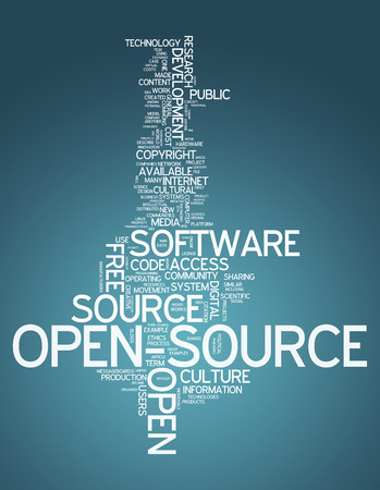 open source: Word Cloud with Open Source related tags