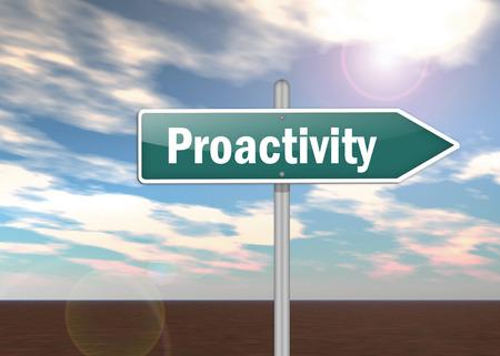 pensamiento estrategico: Poste indicador con Proactividad redacci�n