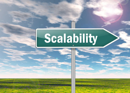 Signpost with Scalability wording