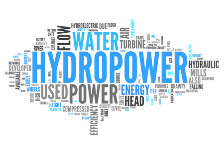hydroelectricity: Word Cloud with Hydropower related tags