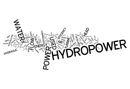 hydropower: Word Cloud with Hydropower related tags
