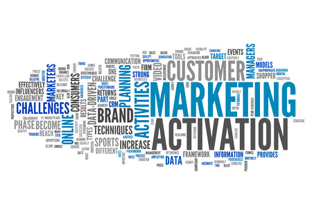 strategical: Word Cloud with Marketing Activation related tags