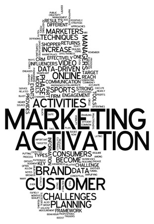 marketer: Word Cloud with Marketing Activation related tags
