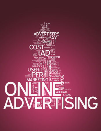 advertisers: Word Cloud with Online Advertising related tags