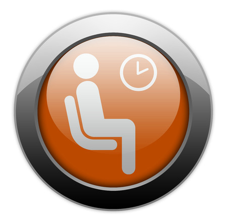 waiting room: Icon, Button, Pictogram with Waiting Room symbol