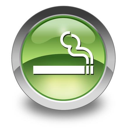 smoking area: Icon, Button, Pictogram with Smoking Area symbol
