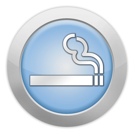 permissible: Icon, Button, Pictogram with Smoking Area symbol